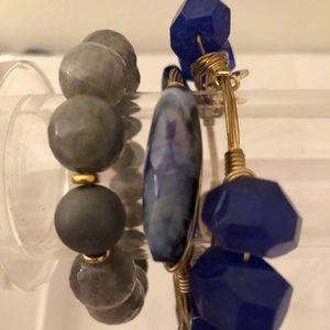 3 coordinating bourbon & boweties bracelets